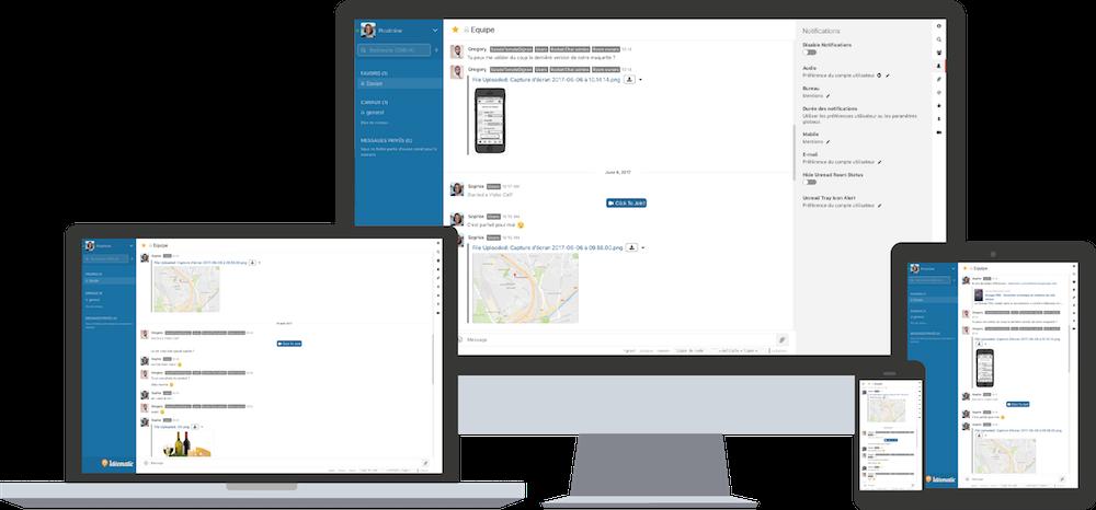 hébergement de rocketchat, application collaborative